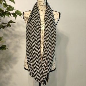 Calvin Klein Black and Gray Infinity Scarf